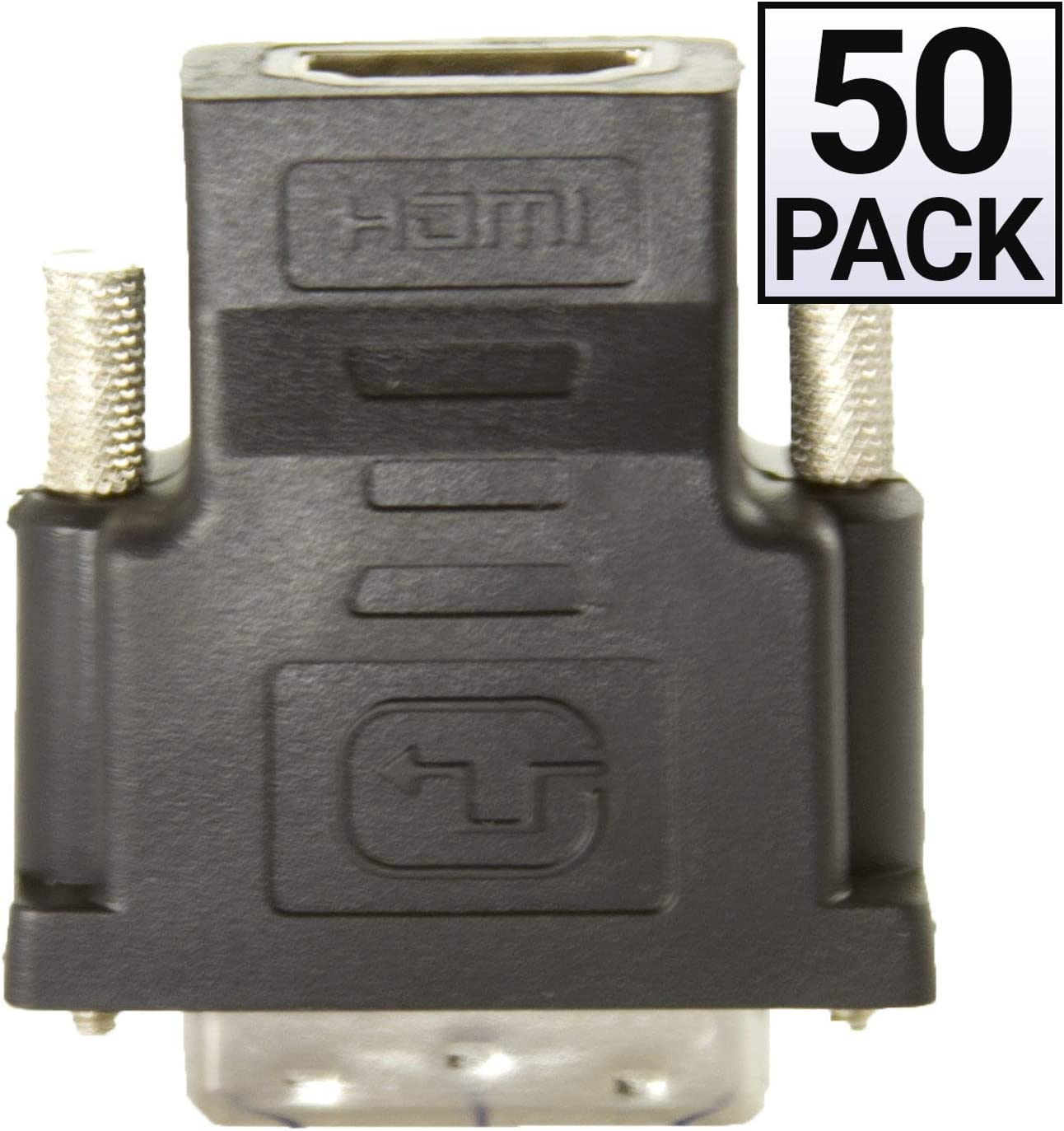 50 Pack HDMI to DVI Adapter GOWOS HDMI Female to//from DVI Male