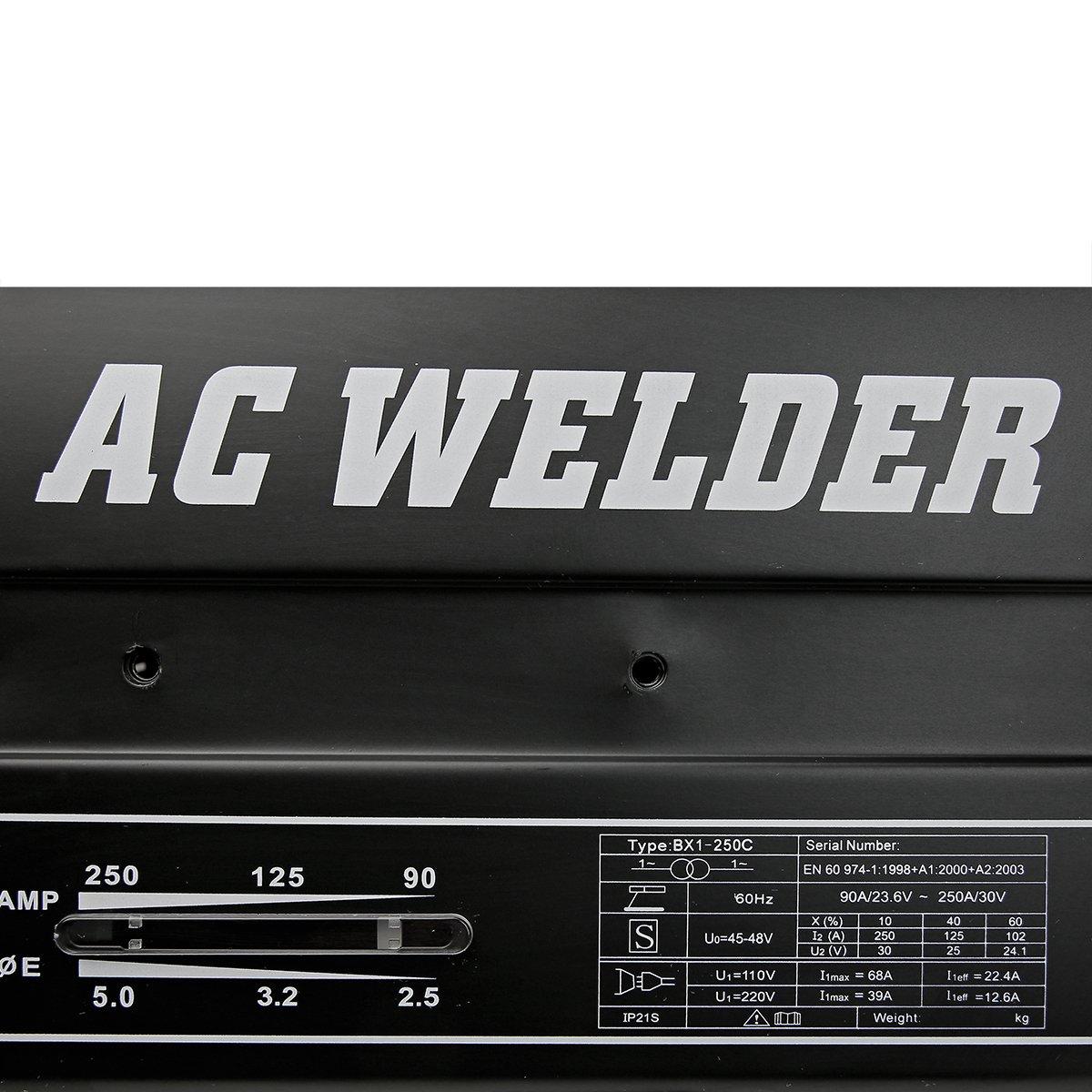 XtremepowerUS 250 AMP Arc Welder Welding Machine With Accessories by XtremepowerUS (Image #2)