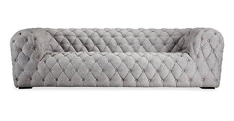 Kardiel Cumulus Mid-Century Modern Tufted Sofa, Urban Pebble Vintage Twill