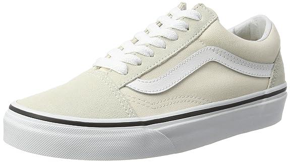 Vans Old Skool, Zapatillas de Entrenamiento Mujer, Hueso (Birch/True White), 35 EU