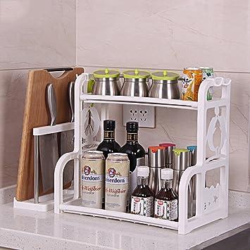 Yxx max Regal küche Doppelschicht-Küchen-Gewürz-Zahnstangen ...