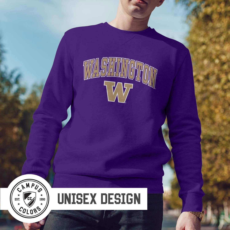 Campus Colors NCAA Adult Arch /& Logo Gameday Crewneck Sweatshirt