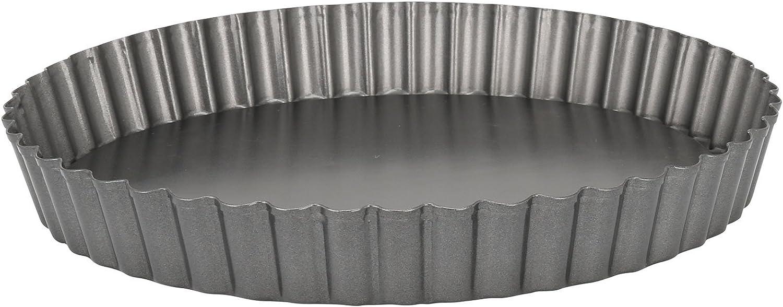 Acier 25 x 25 x 3,5 cm Crealys 507711 Moule /à Tarte Noir