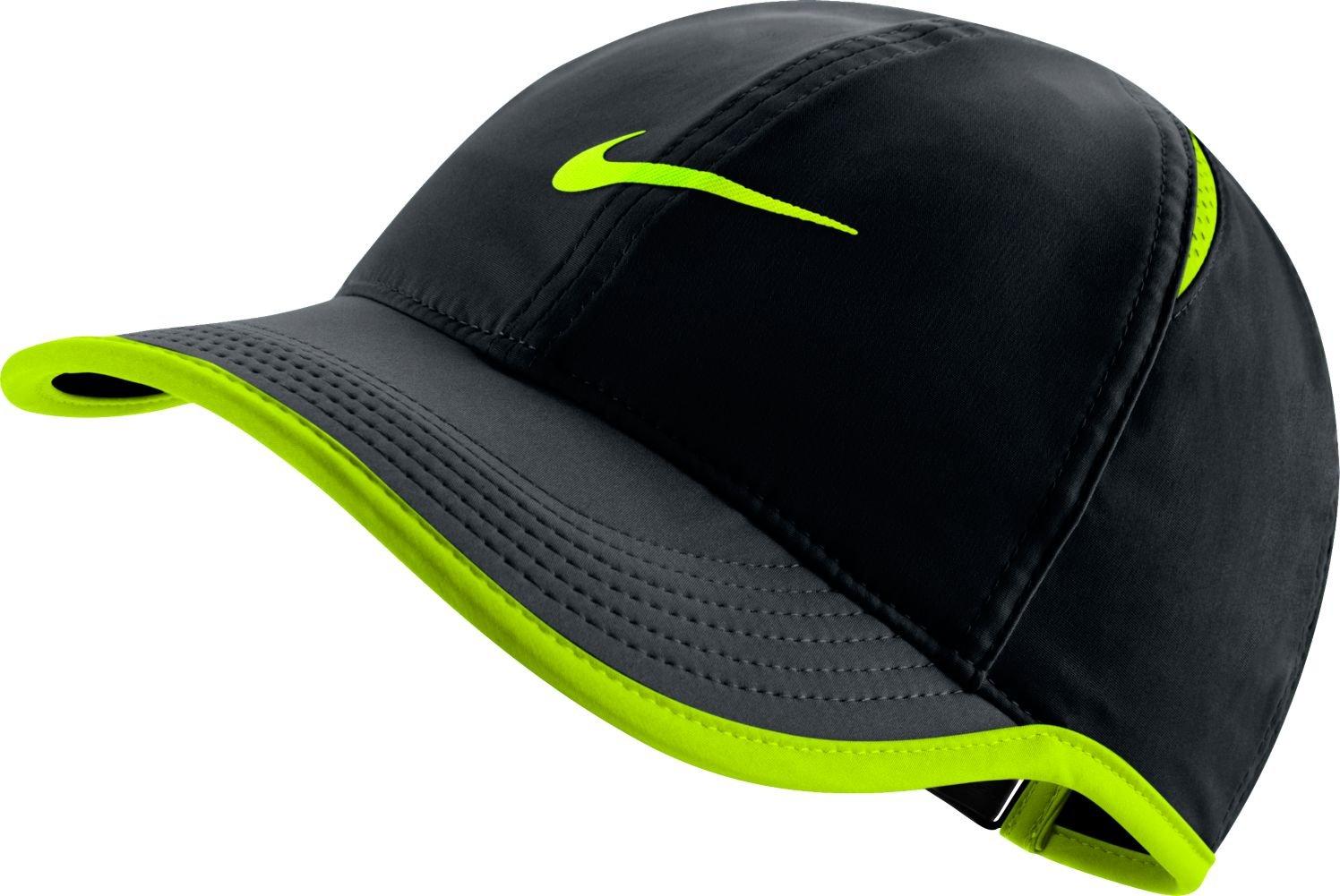 Nike Womens Featherlight Hat - Black/Volt