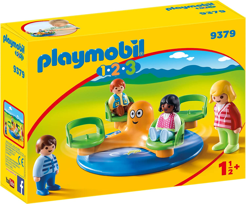 PLAYMOBIL- 1.2.3 Carrusel Infantil Juguete, Multicolor (geobra Brandstätter 9379)