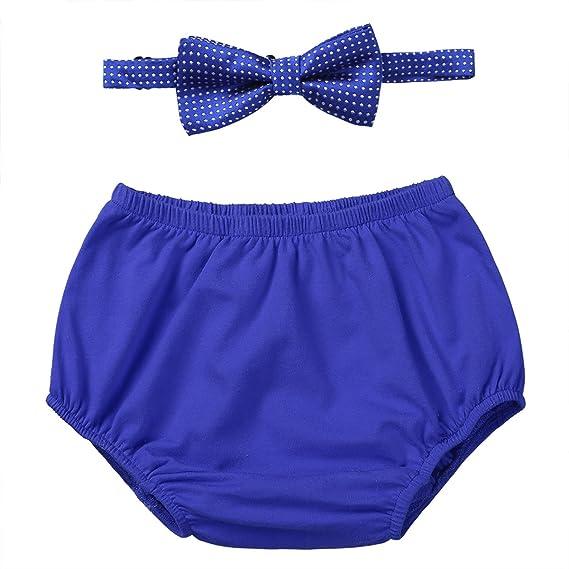 YIZYIF Bragas de aprendizaje para bebés recién nacidos 2pcs Bloomers Con corbata de 18 a 24