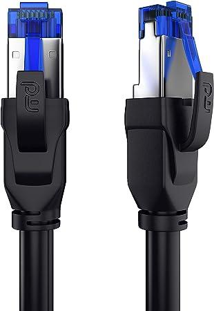 Csl 0 25m Cat 8 Netzwerkkabel 40 Gbits Lan Kabel Elektronik