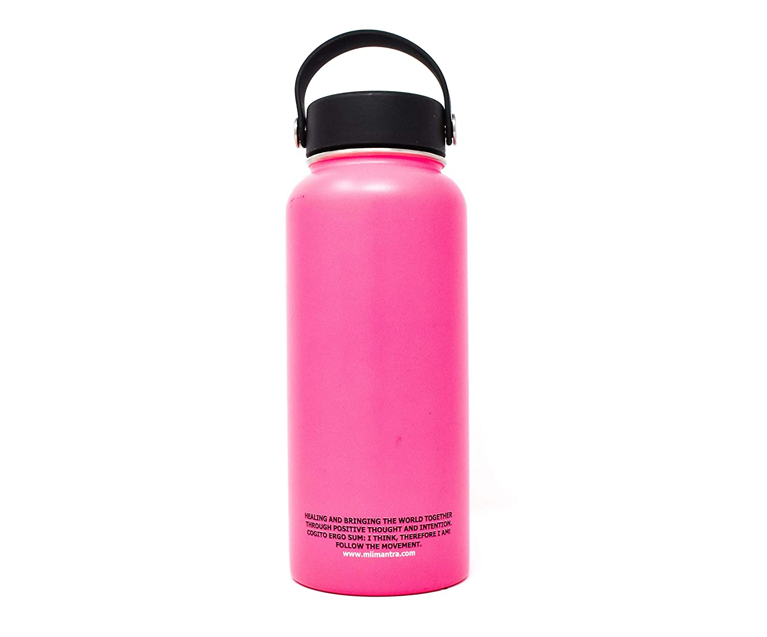Healing Affirmation Double-Walled Insulated Stainless Steel Leak Proof Sports Water Bottle Wide Mouth with BPA Free Flex Cap Mii Mantra Flask
