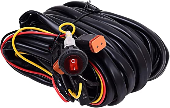 Amazon.com: KC Hilites 63091 Lamp Wiring Harness For 2 Backup Lights 110W  Max Lamp Wiring Harness: AutomotiveAmazon.com