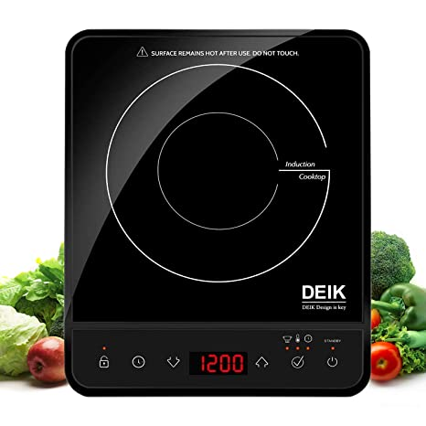 Amazon.com: Portable Induction Cooktop, Deik 1800W Sensor ...