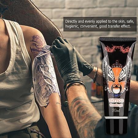 Tattoo Transfer Gel, Tattoo Stencil Solución de transferencia Gel Cream Body Art Accessories Durable Mild Skin-friendly Transfer Formula(50 ml): Amazon.es: Belleza