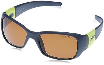 Julbo Piccolo – Gafas de Sol polarizadas Unisex niño, Gris Oscuro/Amarillo Verde