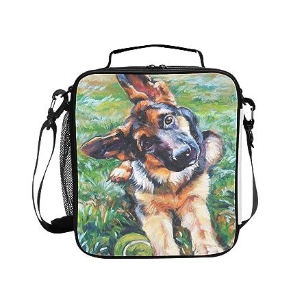 fbf985396d7b Amazon.com - Levendem Cute German Shepherd Lunch Bag/Lunch Box/Lunch ...