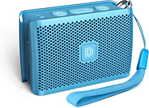 DOSS Genie Portable Bluetooth Speaker with Clean Sound, 33ft Bluetooth Range, Built-in Mic, Ultra-Portable Design, Wireless Speaker Compatible for Home, Outdoors, Travel - Blue