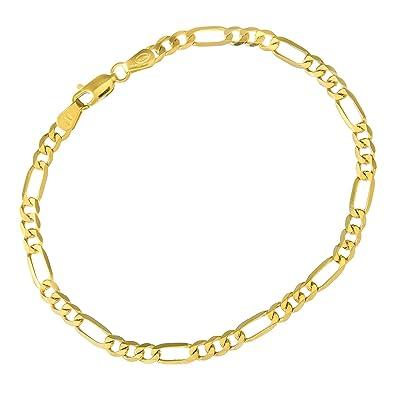 0ac5262989ad1 Citerna Men's 9 ct Yellow Gold Figaro Bracelet
