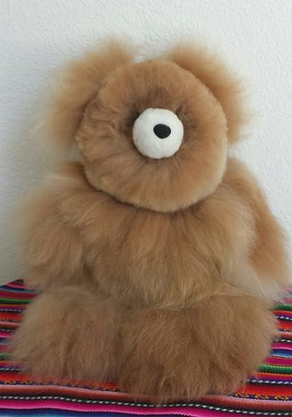 "100/% Baby Alpaca Fur Artist Teddy Bear One of a Kind 14/"" Beige//Brown"