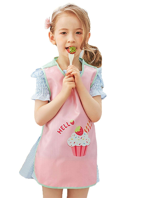 Chilsuessy Kinder Malkittel Kinder Bastelkittel Kinder Schürze Malschürze Langarm 4 Groesse von 1-10 Jahre (S/0-2 Jahre Alt, Blauer Roboter)