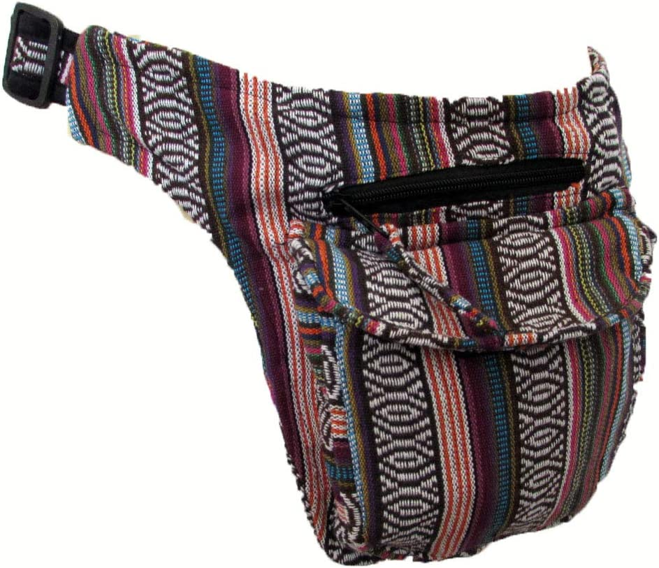 Sac Banane Ville Multicolore Aztec Pink Grand No Eye Deer