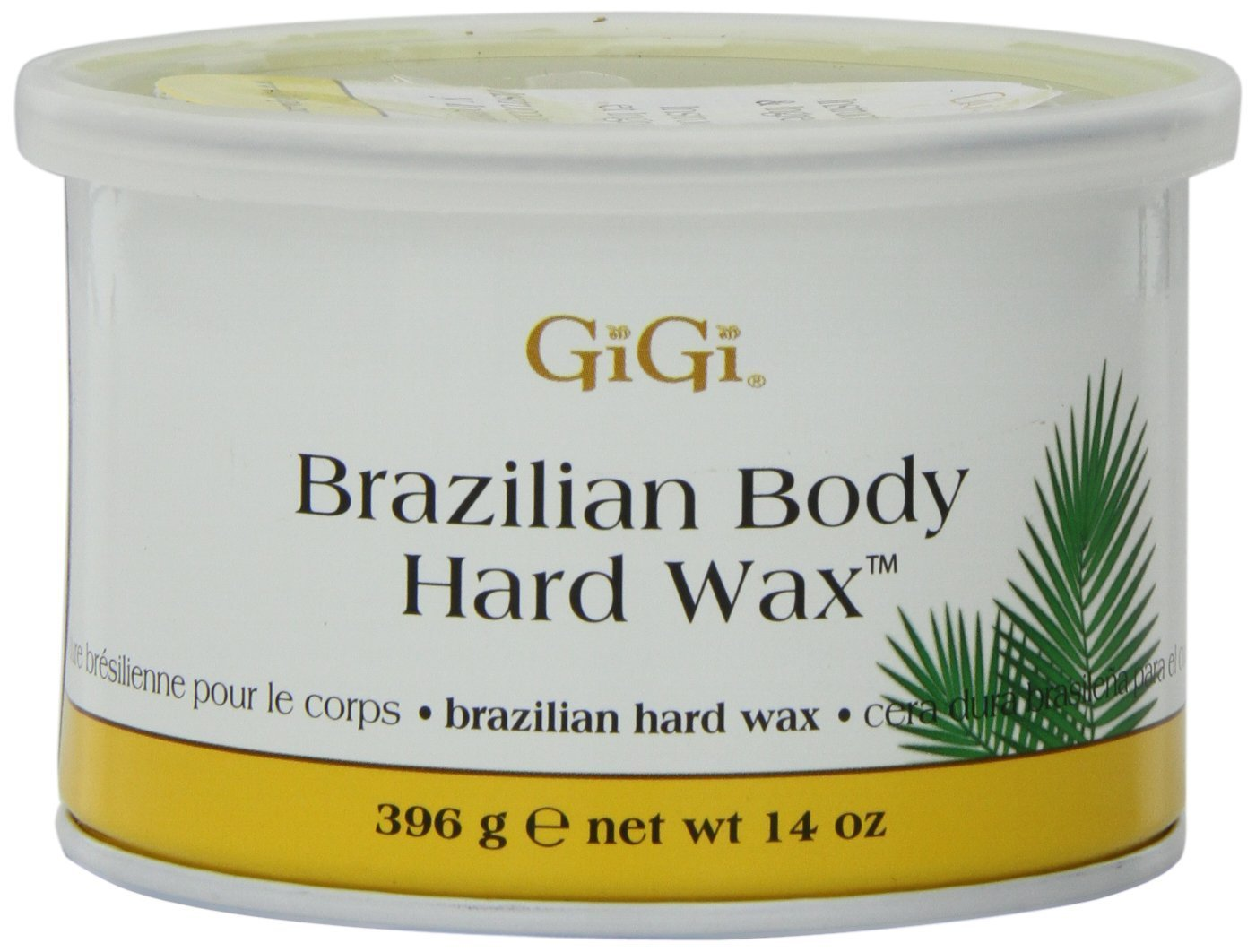 Gigi Tin Brazilian Body Hard Wax 14 Ounce (414ml) (3 Pack)