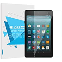 TiMOVO Fire 7 Screen Protector, Ultra Clear Hardness Tempered Glass Screen Protector Bubble-Free Anti-Scratch Film for Amazon Fire 7 2017 Release Tablet, Clear