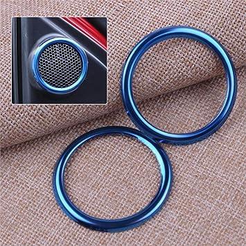 For Mazda CX-5 2017 2018 Stainless steel Inner Door Speaker Cover Ring Trim 2pcs