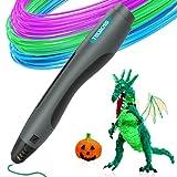 3D Drawing Pen, Tecboss 3D Printing Printer Pen Modeling Arts Crafts - One Button Operation No Burn No Toxic No Clog - (Black)