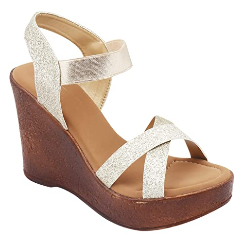 72b744a369c Right Steps Cross-Strap Wedges Sandals  Buy Online at Low Prices in India -  Amazon.in