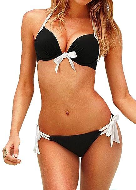 Ponte Guapa Conmigo Bikinis para Mujer calzedonia Verano Baratos con Estampados y de Colores (Lazo