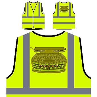 Ser Usted La Máquina De Escribir Chaqueta de seguridad amarillo personalizado de alta visibilidad j402v