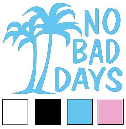 Amazoncom No Bad Days Original Palm Decal Sky Blue Automotive