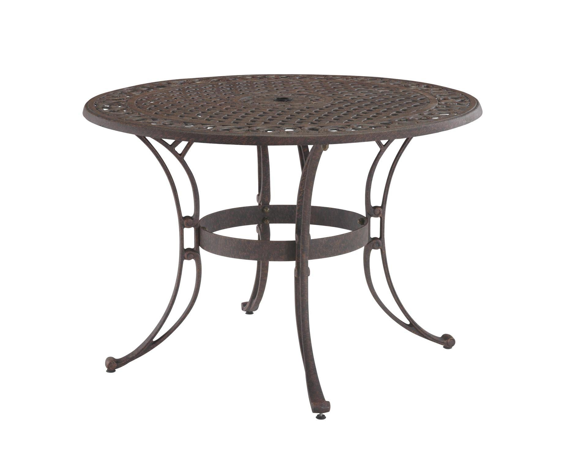 Biscayne Bronze Round 48-Inch Outdoor Dining Table by Home Styles