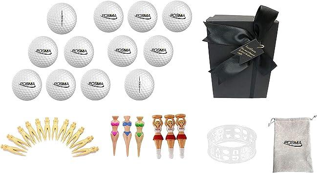 Posma Gbs010c Juego De Bolas De Golf Con 12 Pelotas De Golf A Juego 3 Tipos