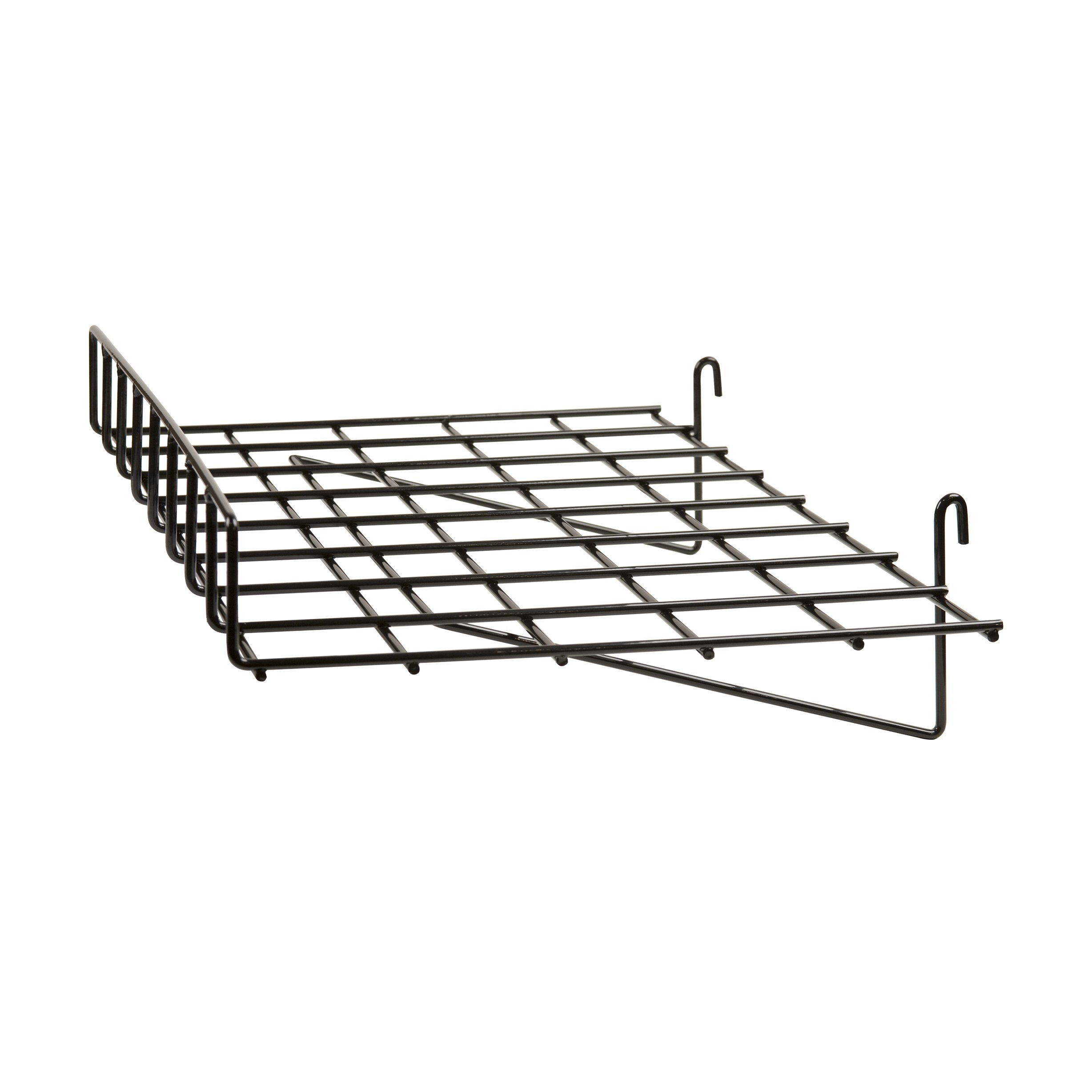 Econoco Straight Shelf with Front Lip, 24'' Length x 15'' Depth (Pack of 4)