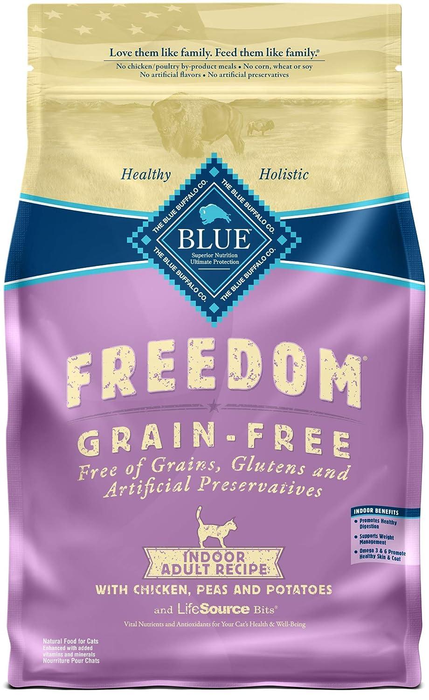 BLUE Freedom Azul Buffalo Libertad sin Grano seco Adulto Gato ...