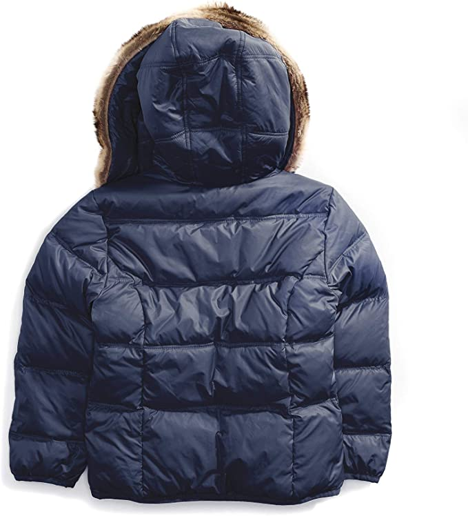 Tommy Hilfiger Girls Adaptive Puffer Jacket with Magnetic Buttons