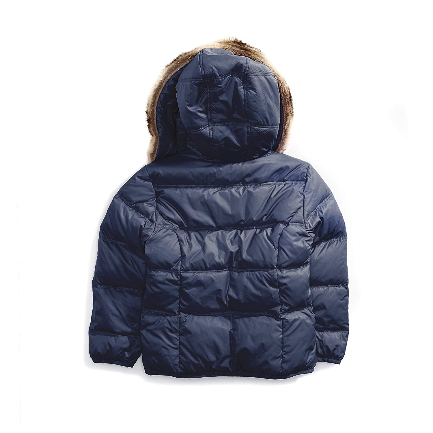 Tommy Hilfiger Adaptive Girls Puffer Jacket with Magnetic Buttons and Faux Fur Hood 7182781