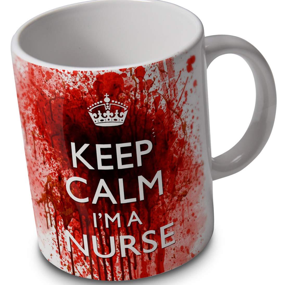 Keep Calm I m una Enfermera Taza de dise/ño de Pantera Sanguinaria dise/ño de Sangriento