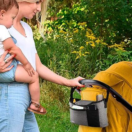DANDANdianzi Bolso de la Carretilla del Cochecito de beb/é Organizrer Malla de Red de Almacenamiento Organizador para Colgar la Cesta de Bolsillo para beb/é Accesorios pr/ácticos