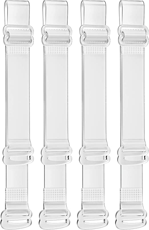 Sofeavo 10 Pairs Clear Bra Straps Invisible Transparent Adjustable Bra Shoulder Strap Replacement