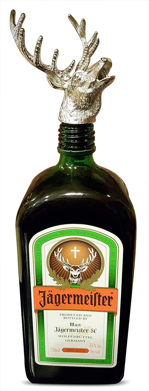 Dorado Aleaci/ón de Zinc Tapones de Botellas Stag Wine Bottle Stopper Pourer Tap/ón Herramientas de la Barra /únicos MINGZE Cabeza de Ciervo Vertedor de Vino
