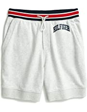 TOMMY HILFIGER Men's Adaptive Sweat Short with Slide Loop Closure, Ice Grey Heather