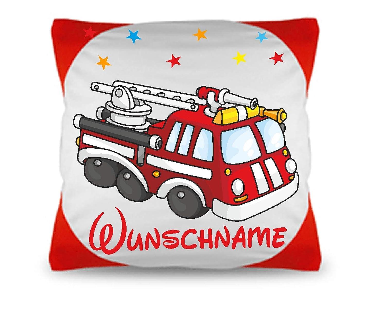 Kinder Kissen Feuerwehr + Füllung + Name kreative4you