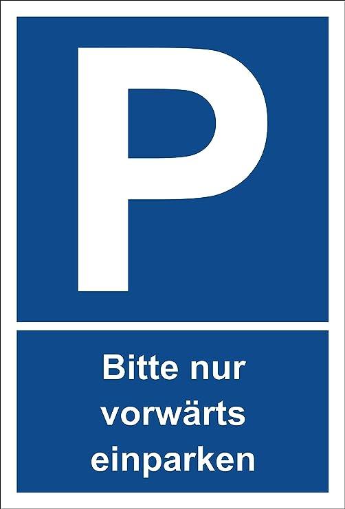 Cartel - Por favor solo Adelante aparcar - Aparcamiento ...