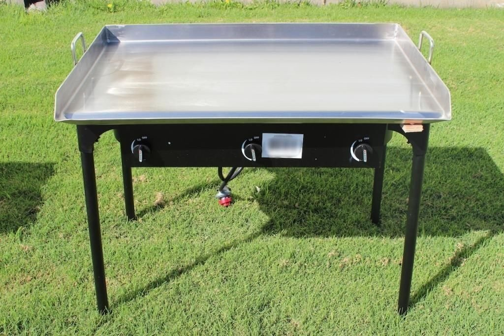 9TRADING 36'' x 22'' Stainless Steel Flat Top Griddle Grill with Triple Burner Stove, Free Tax, Delivered within 10 days