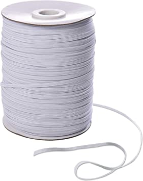 100 Yards Elastic Band for 1//4 inch Flat Elastic Cord Sewing Rope DIY Knitting