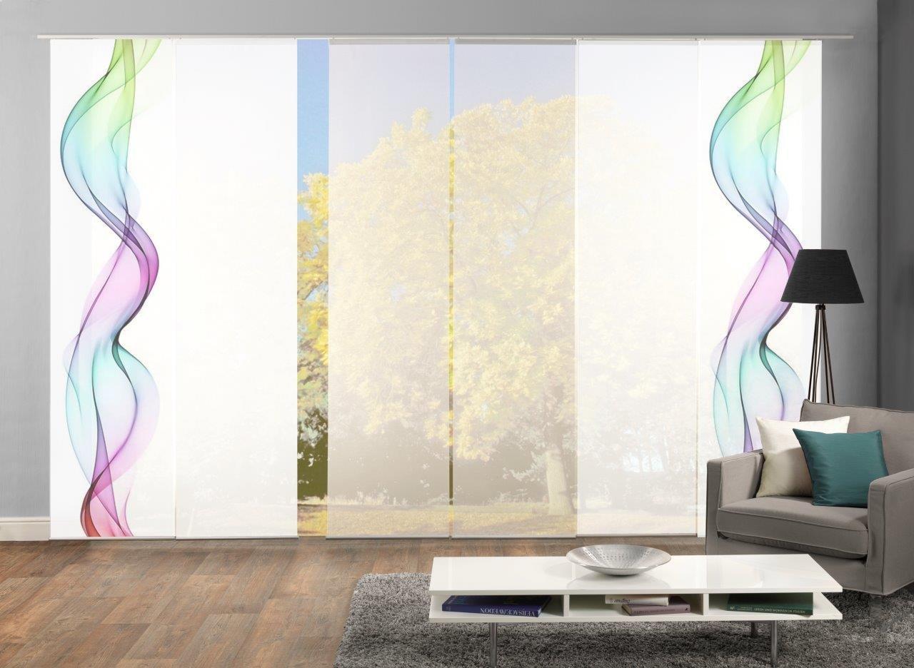 Amazon.de: HOME Wohnideen Komplett-Fenster-Schiebevorhang Alberta, 6 ...