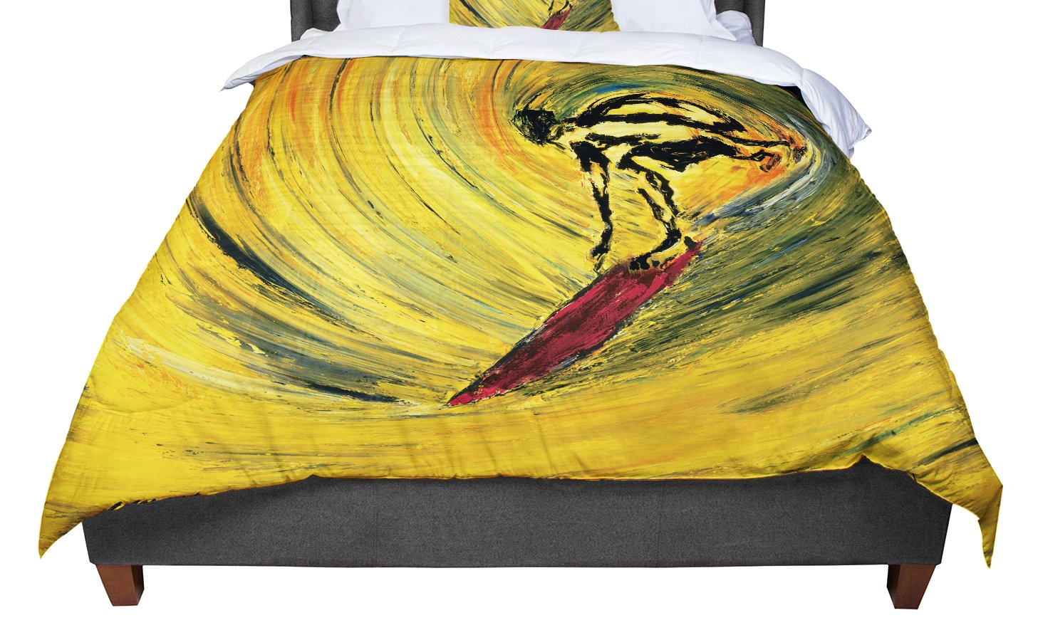 68 X 88 KESS InHouse Sylvia Cook Peacock Feather Twin Comforter