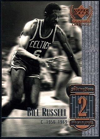Upper Deck 1999 Century Legends Basketball Card #2 Bill Russell Boston Celtics