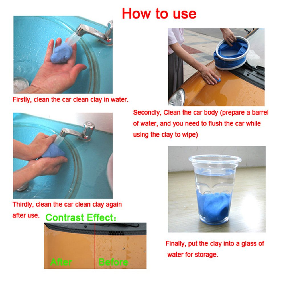 Home Car/ Auto Magic Clean Clay Bar Detailing Wash Sludge Mud Remove Blue 5pcs Factory Direct Selling Price