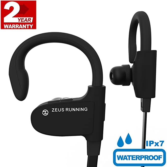 ZEUS Wireless Bluetooth Earbuds - New Model 2018 - Adjustable Ear Hooks -  Best HD Stereo bd4255edb